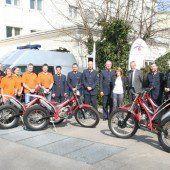 Vier Trialmotorräder nicht nur für die Polizei allein