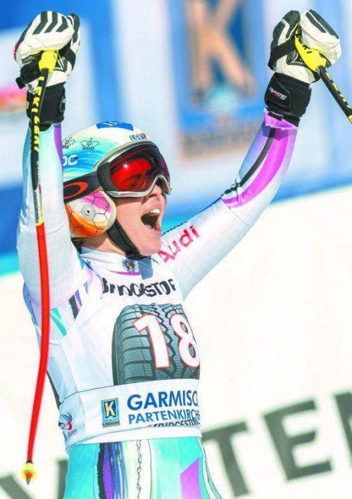 Erster Abfahrtssieg im Weltcup: Tina Weirather. Foto: ap