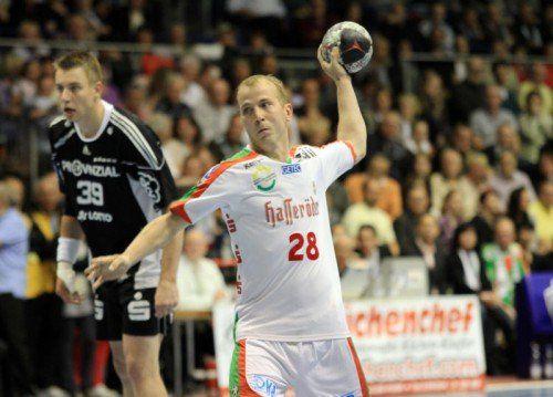 Robert Weber erzielte vier Troe beim Sieg im DHB-Pokal-Achtelfinale.gepa