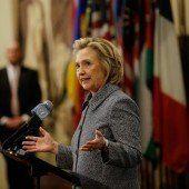 Hillary Clinton wegen E-Mails in Bedrängnis