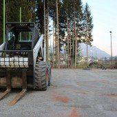 Bauarbeiten am alten Sportplatz des TC Göfis