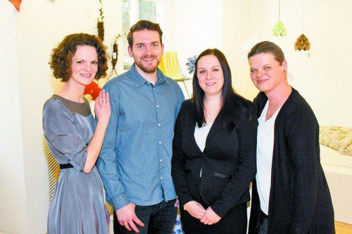 Inhaberin Barbara Moser-Hehle (l.) mit Christof, Jasmin Hehle und Birgit Moser. Fotos: Franc