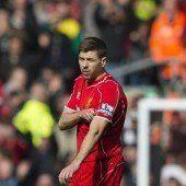 Blitz-Rot für Steven Gerrard