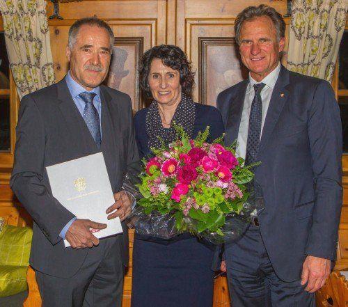Manfred Brandl mit Gattin Ingrid und Wirtschaftskammer-Präsident KommR Manfred Rein. Foto: WKV