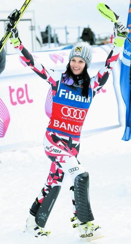Mit einem perfekten Slalom triumphierte Anna Fenninger in Bansko erstmals bei einer Weltcup-Kombination. Foto: apa