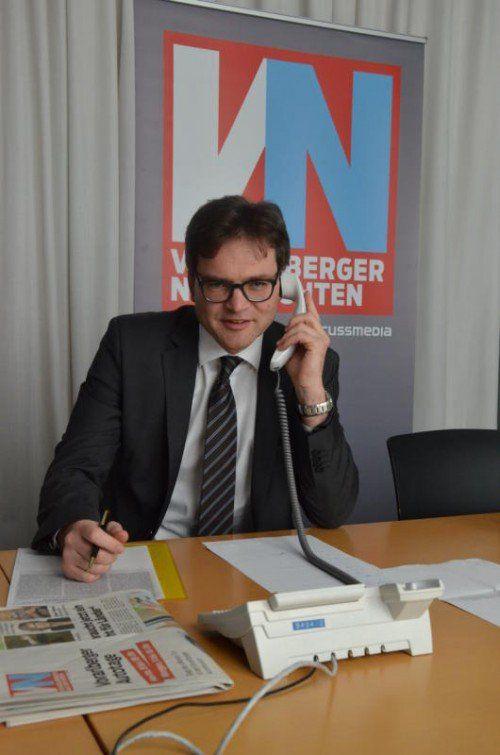 Notar Dr. Richard Forster gibt am VN-Telefon Auskunft.