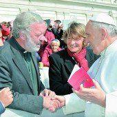 Georg Sporschill bei Papst Franziskus
