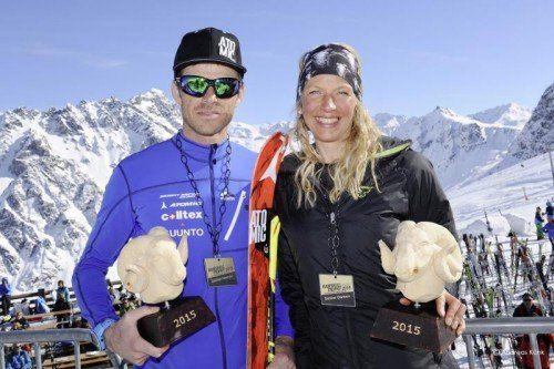 Patrick Innerhofer und Martina Senn sind die Sieger der langen Distanz der Ramskull Trophy in Gargellen. Foto: Andreas Künk