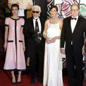 Lagerfeld auf dem Rosenball in Monaco