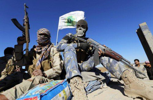 Schiitische Kämpfer versuchen, den IS im Süden der irakischen Stadt Tikrit weiter zurückzudrängen.  FOTO: RTS