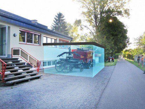 So wird die gläserne Garage in Höchst einmal aussehen.