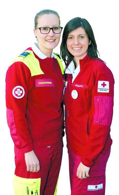 Team-Work: Vanessa Kaufmann (SB) mit Julia Hatzl (RK).  Franc