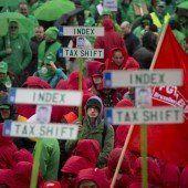 Proteste gegen die Sparpolitik in Brüssel