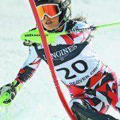 Fenninger versucht sich im Slalom