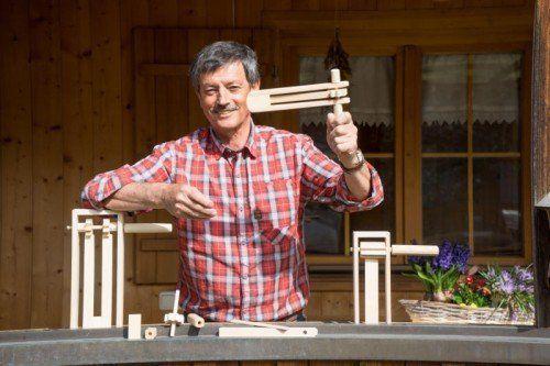 Albert Schneider ist ein guter Handwerker.  Foto: VN/Hartinger