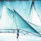 Ein Vorhang beginnt zu tanzen