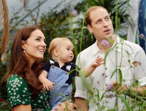 Bald bekommt Prinz George einen kleinen Bruder oder eine kleine Schwester. Foto: AP