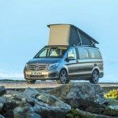 Bereit für den Urlaub: Ein Mercedes zum Übernachten