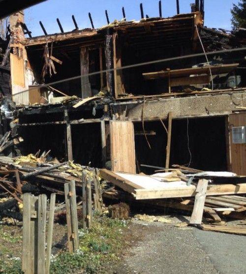 Das unbewohnbare Haus soll bald abgebrochen werden.  Foto: privat