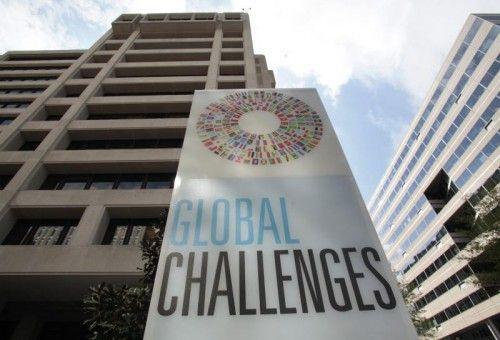 Der laufende Schuldenstreit mit Griechenland wird im Hauptquartier des IWF in den nächsten Tagen allgegenwärtig sein. FOTO: REUTERS