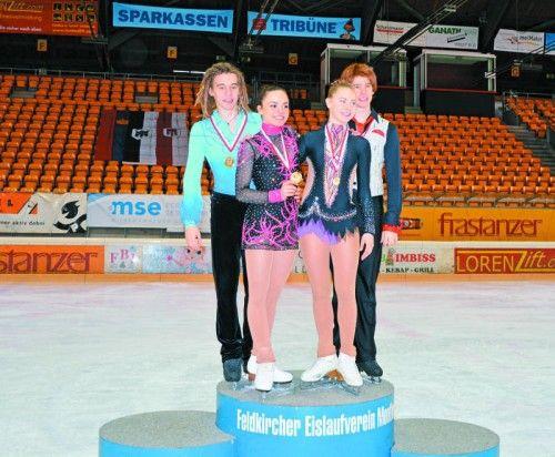 Die neuen Vorarlberger Meister im Eiskunstlauf. Foto: FEV