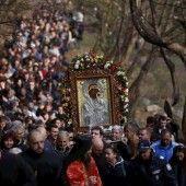 Parade mit Heiligenbild