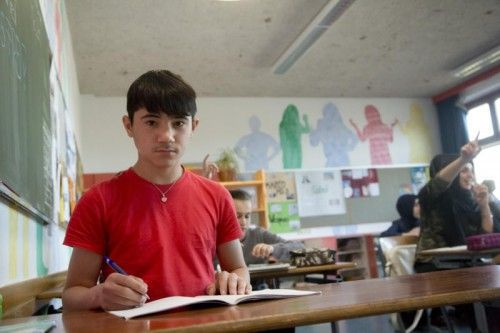 Fawad aus Afghanistan wurde schnell Teil der Gemeinschaft der Mittelschule in Hard. Foto: VN/Paulitsch