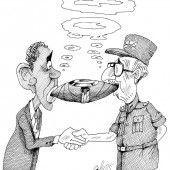 US-kubanische Friedenszigarre!