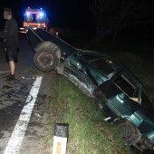 Drei Verletzte bei Alko-Unfall
