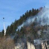 Waldbrand beim Klettergarten in Nüziders