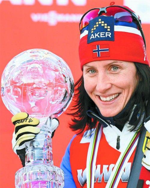 Greift wieder nach Langlauf-Kristall: Marit Björgen. Foto: apa