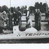 Das Rennboot im Bodensee versenkt