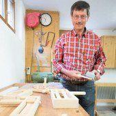 Das Holz ist sein Hobby