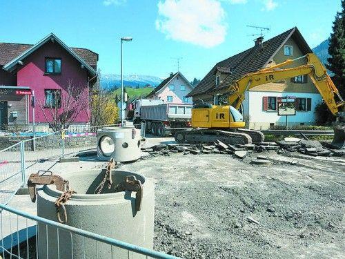 Kanalbau im oberen Steinacker-Abschnitt.  Foto: STD