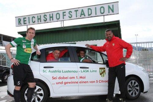 Im Reichshofstadion gibt es fünf Autos zu gewinnen. Foto: gorbach