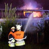 Scheune in Koblach fängt Feuer