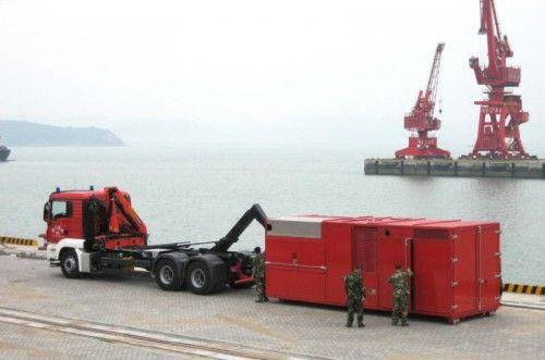 Löschtechnik aus Thüringen bewährte sich in China. Dort waren es die sogenannten Monsterpumpen. Foto: LUF
