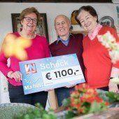 1100 Euro für Ma hilft