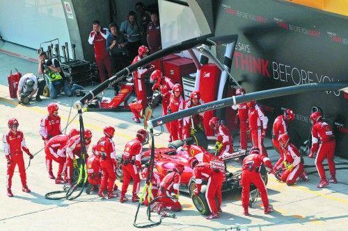 Sebastian Vettel und Ferrari sind bereit für die Hitzeschlacht in Bahrain. Foto: gepa