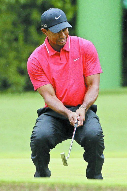 Testete für das Masters in Augusta: Tiger Woods. Foto: ap