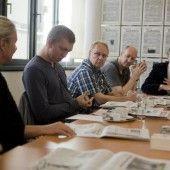 Thomas Warger hält Kultur des Zeitunglesens hoch