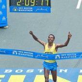 Lelisa Desisa wie schon 2013 Sieger in Boston
