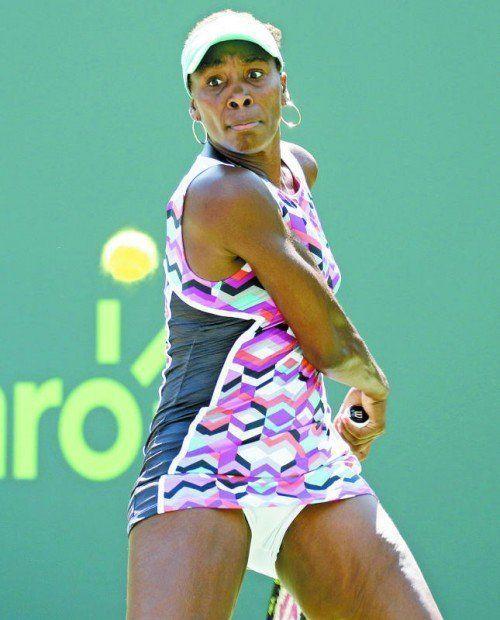 Venus Williams wurde im Viertelfinale von Miami von der Spanierin Carla Suarez Navarro gestoppt. Foto: ap