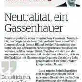 Neutralität, ein Gassenhauer