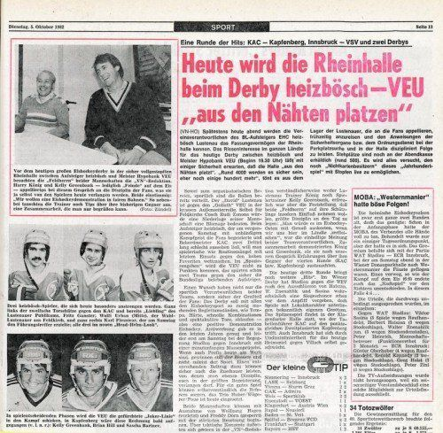 VN-Sport-Ausschnitt anlässlich des ersten Derbys.