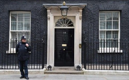10 Downing Street in London, Sitz des Premiers. Heute entscheiden die Briten, wer dort einzieht.  FOTO: EPA