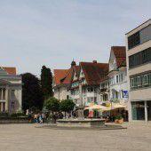 vorarlberg einst und jetzt. Marktplatz Dornbirn