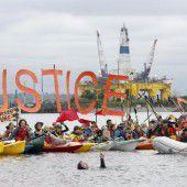 Proteste gegen geplante Ölbohrungen von Shell in der Arktis