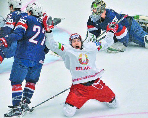 Aleksandr Kitarow jubelt über sein Tor zum 3:0 gegen die USA. Foto: Gepa