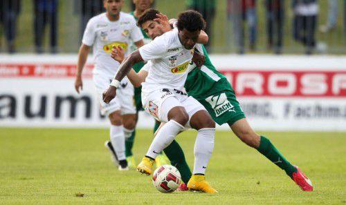 Austrias Offensivspieler Jailson (im Bild gegen Michael Novak) ist seit dem 21. Oktober (3:3 gegen Mattersburg) ohne Torerfolg. Foto: gepa